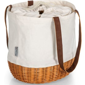 Coronado Canvas and Willow Basket Tote Bags