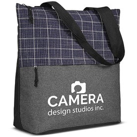 Flannel Check Accent Tote Bags