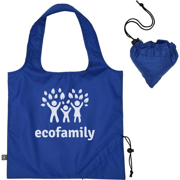 Royal Blue Foldaway Tote Bag with 100% RPET Material