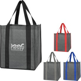 Heathered Non-Woven Shopper Tote Bags