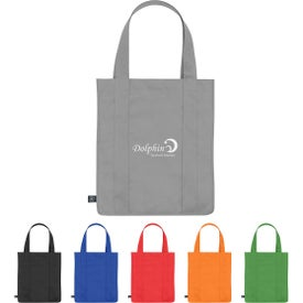 Non-Woven Shopper Tote Bags with 100% RPET Material