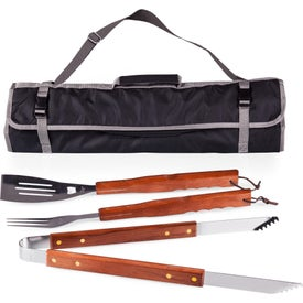 3 Piece BBQ Tote Bag and Grill Sets
