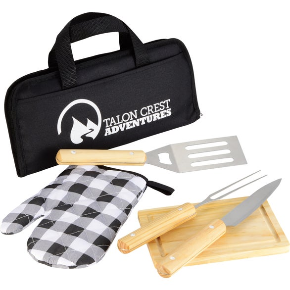 Black 5 Piece BBQ Set