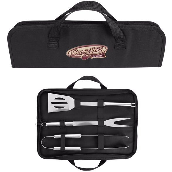 Black Sizzler 3-Piece BBQ Set