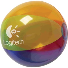 "Translucent 16"" Multi-Color Round Beach Ball"