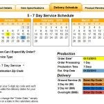 Quality Logo Products® Delivery Schedule Tab Expanded