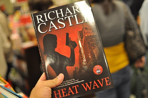 Heat Wave is a murder mystery novel released to promote the show, Castle. Nathan Fillion has appeared at book signings as Richard Castle to drum up publicity for the show.