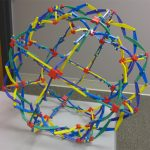 Hoberman Rainbow Sphere - Expanded (The Office)