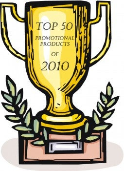 50 Top Promotional Products of 2010