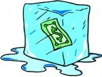 "Get it? ""Frozen funds?"""
