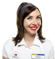 Will you always picture this actress as Flo? Be honest.