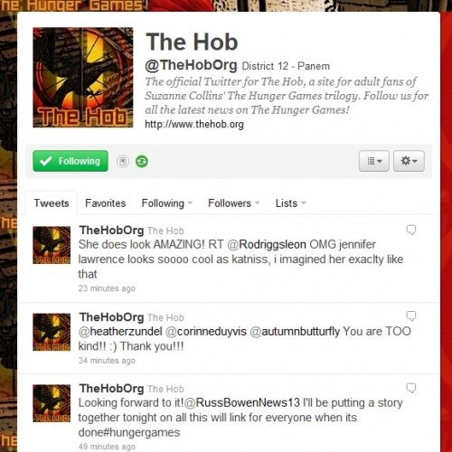 The Hob on Twitter