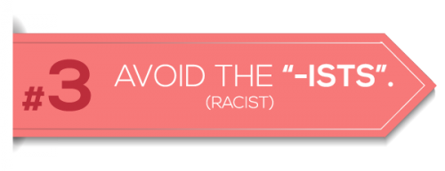 Avoid the ists (racist)