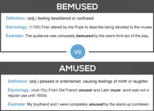 Bemused vs. Amused