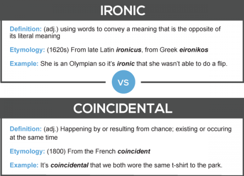 Ironic vs. Coincidental