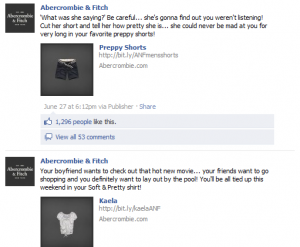 A & F on Facebook