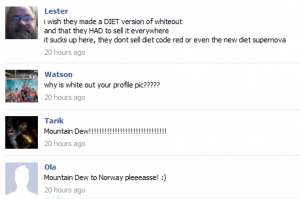 Mountain Dew on Facebook
