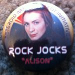 'Rock Jocks' pin