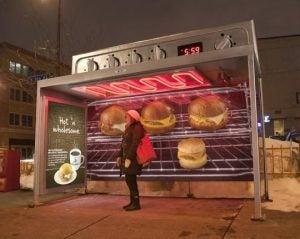 Caribou Coffee bus stop