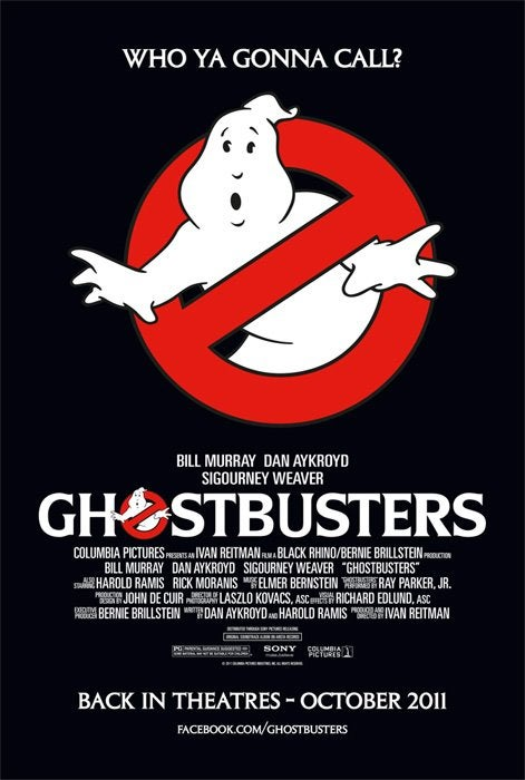 Ghostbusters Rerelease Promotional Poster