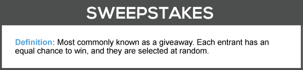 Sweepstakes Definition