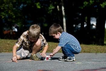 kids being creative