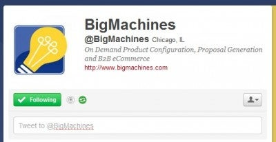 Big Machines Twitter