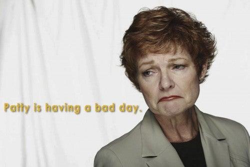 business woman sad