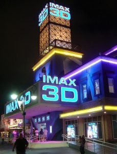 IMAX movie theater marquee
