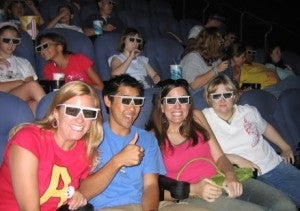 IMAX movie theater audience