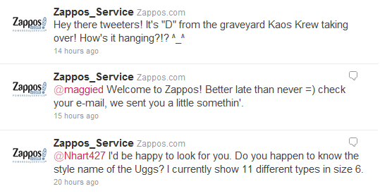Twitter Zappos_Service