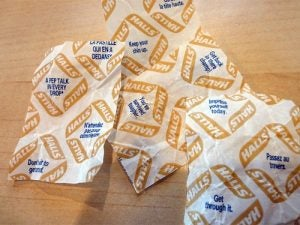 Halls wrappers