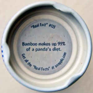 Snapple cap