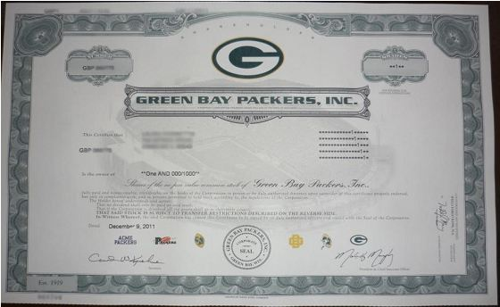 Packers stock