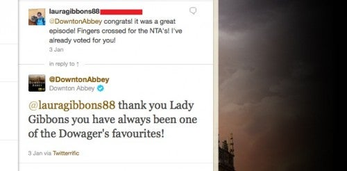 twitter post downton abbey