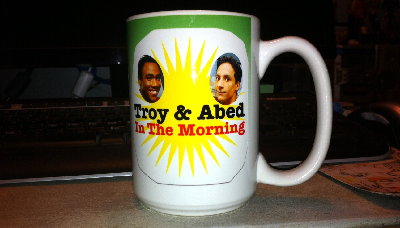 troy and abed in the morning community mug