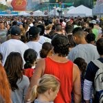 Typical attendance for a day at the Taste. See that crowd? Multiply it by two.