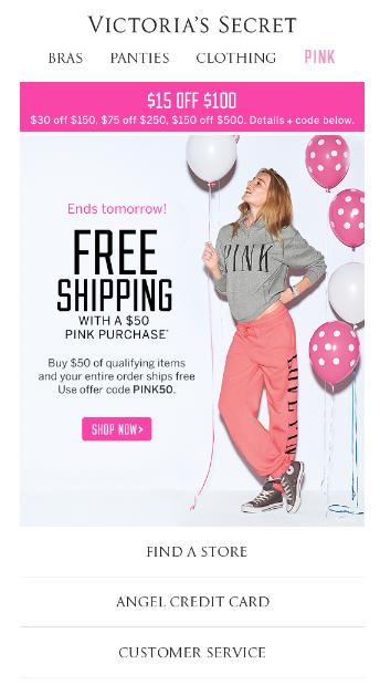 Victoria's Secret Email Marketing
