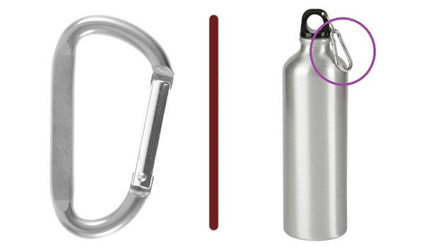 carabiner water bottle