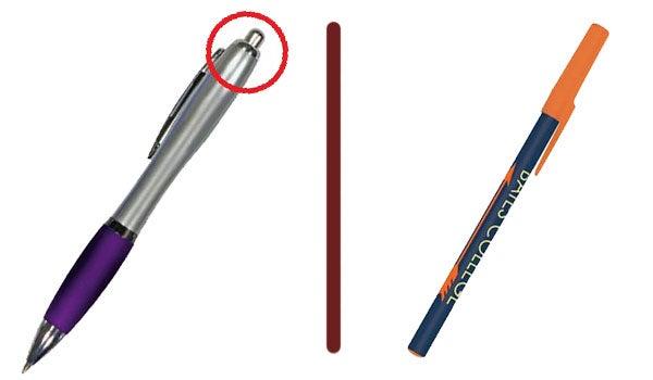 plunger click pen cap pen