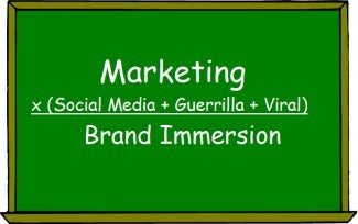Post image for Your Marketing Dictionary: Brand Immersion = Marketing x (Guerrilla + Viral + Social Media)