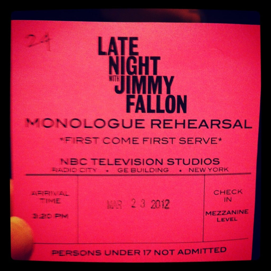 monologue rehearsal late night with jimmy fallon