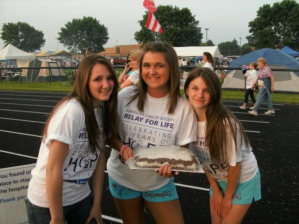 My cousins and me at a Relay for Life event