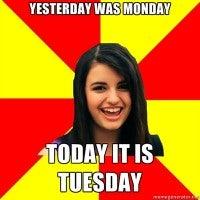monday tuesday rebecca black meme