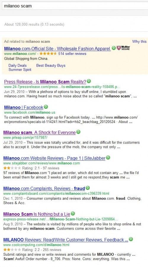 Milanoo scam