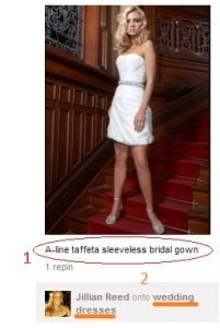 Pinterest bridal gown pin