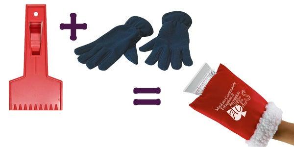 ice scraper glove hand mitten