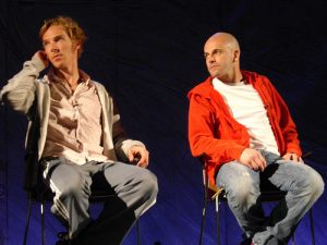 Benedict Cumberbatch and Jonny Lee Miller, the two leads in the National Theater's 'Frankenstein'