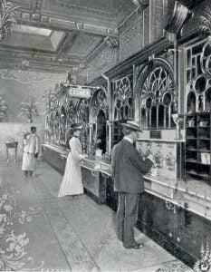 Fast food, c.1904.