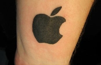 apple logo tattoo